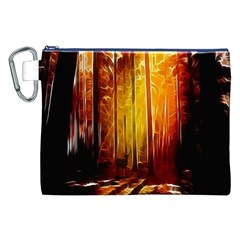Artistic Effect Fractal Forest Background Canvas Cosmetic Bag (xxl) by Simbadda