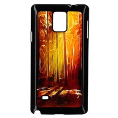 Artistic Effect Fractal Forest Background Samsung Galaxy Note 4 Case (black) by Simbadda