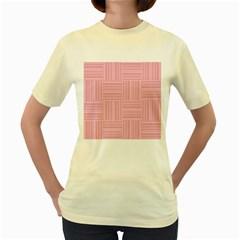 Pattern Women s Yellow T Shirt by Valentinaart