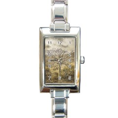 Ceiba Tree At Dry Forest Guayas District   Ecuador Rectangle Italian Charm Watch by dflcprints