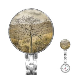 Ceiba Tree At Dry Forest Guayas District   Ecuador Stainless Steel Nurses Watch by dflcprints