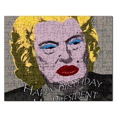 Happy Birthday Mr  President  Rectangular Jigsaw Puzzl by Valentinaart