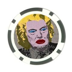 Happy Birthday Mr  President  Poker Chip Card Guard by Valentinaart