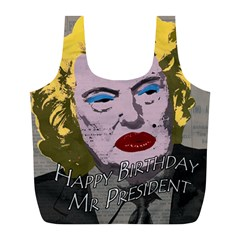 Happy Birthday Mr  President  Full Print Recycle Bags (l)  by Valentinaart