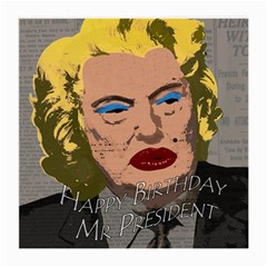 Happy Birthday Mr  President  Medium Glasses Cloth (2 Side) by Valentinaart