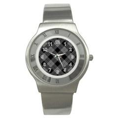 Pattern Stainless Steel Watch by Valentinaart