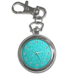 Tiffany Aqua Blue Glitter Key Chain Watches by PodArtist