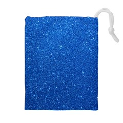 Night Sky Sparkly Blue Glitter Drawstring Pouches (extra Large) by PodArtist