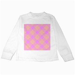 Pattern Kids Long Sleeve T Shirts by Valentinaart