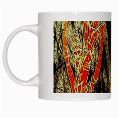 Artistic Effect Fractal Forest Background White Mugs by Simbadda