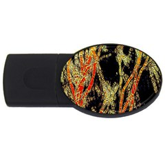 Artistic Effect Fractal Forest Background Usb Flash Drive Oval (4 Gb) by Simbadda