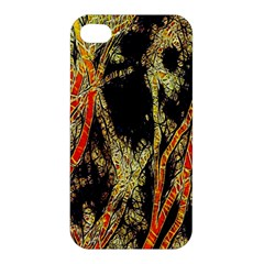 Artistic Effect Fractal Forest Background Apple Iphone 4/4s Premium Hardshell Case by Simbadda