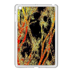 Artistic Effect Fractal Forest Background Apple Ipad Mini Case (white) by Simbadda