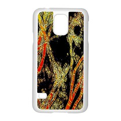 Artistic Effect Fractal Forest Background Samsung Galaxy S5 Case (white) by Simbadda