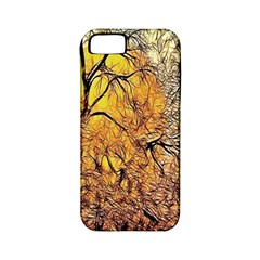 Summer Sun Set Fractal Forest Background Apple Iphone 5 Classic Hardshell Case (pc+silicone) by Simbadda