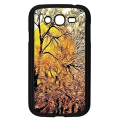 Summer Sun Set Fractal Forest Background Samsung Galaxy Grand Duos I9082 Case (black) by Simbadda
