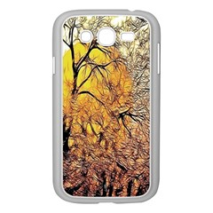 Summer Sun Set Fractal Forest Background Samsung Galaxy Grand Duos I9082 Case (white) by Simbadda