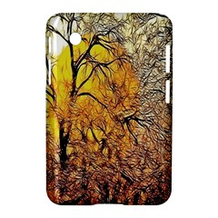 Summer Sun Set Fractal Forest Background Samsung Galaxy Tab 2 (7 ) P3100 Hardshell Case  by Simbadda