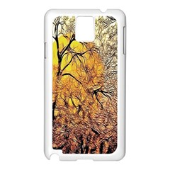 Summer Sun Set Fractal Forest Background Samsung Galaxy Note 3 N9005 Case (white) by Simbadda