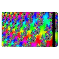 Digital Rainbow Fractal Apple Ipad 3/4 Flip Case by Simbadda