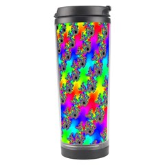 Digital Rainbow Fractal Travel Tumbler by Simbadda