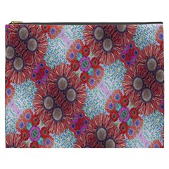 Floral Flower Wallpaper Created From Coloring Book Colorful Background Cosmetic Bag (xxxl)  by Simbadda