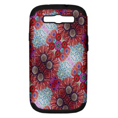 Floral Flower Wallpaper Created From Coloring Book Colorful Background Samsung Galaxy S Iii Hardshell Case (pc+silicone) by Simbadda