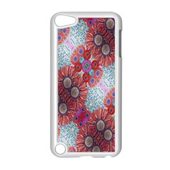 Floral Flower Wallpaper Created From Coloring Book Colorful Background Apple Ipod Touch 5 Case (white) by Simbadda