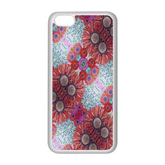 Floral Flower Wallpaper Created From Coloring Book Colorful Background Apple Iphone 5c Seamless Case (white) by Simbadda