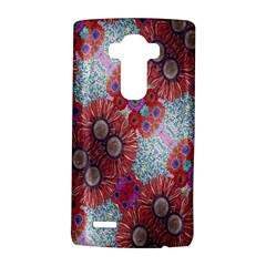 Floral Flower Wallpaper Created From Coloring Book Colorful Background Lg G4 Hardshell Case by Simbadda