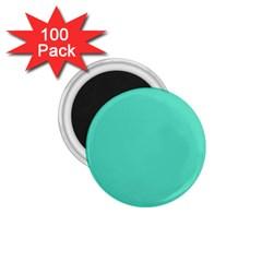 Tiffany Aqua Blue Solid Color 1.75  Magnets (100 pack)  by PodArtist