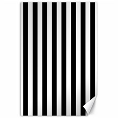 Large Black And White Cabana Stripe Canvas 20  X 30   by PodArtist