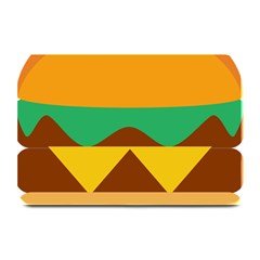 Hamburger Bread Food Cheese Plate Mats by Simbadda
