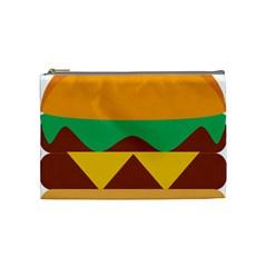 Hamburger Bread Food Cheese Cosmetic Bag (medium)  by Simbadda