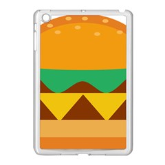Hamburger Bread Food Cheese Apple Ipad Mini Case (white) by Simbadda
