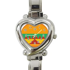 Burger Bread Food Cheese Vegetable Heart Italian Charm Watch by Simbadda