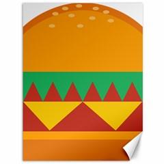 Burger Bread Food Cheese Vegetable Canvas 36  X 48   by Simbadda