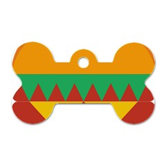 Burger Bread Food Cheese Vegetable Dog Tag Bone (two Sides) by Simbadda