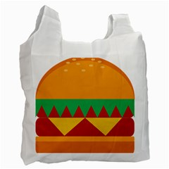 Burger Bread Food Cheese Vegetable Recycle Bag (one Side) by Simbadda