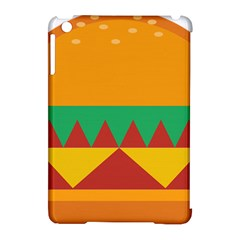 Burger Bread Food Cheese Vegetable Apple Ipad Mini Hardshell Case (compatible With Smart Cover) by Simbadda