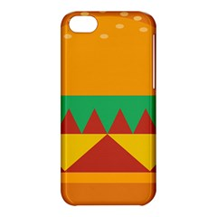 Burger Bread Food Cheese Vegetable Apple Iphone 5c Hardshell Case by Simbadda