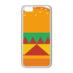 Burger Bread Food Cheese Vegetable Apple Iphone 5c Seamless Case (white) by Simbadda