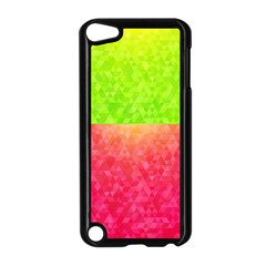 Colorful Abstract Triangles Pattern  Apple Ipod Touch 5 Case (black) by TastefulDesigns