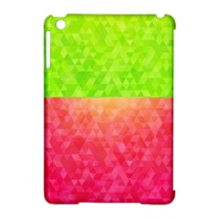 Colorful Abstract Triangles Pattern  Apple Ipad Mini Hardshell Case (compatible With Smart Cover) by TastefulDesigns