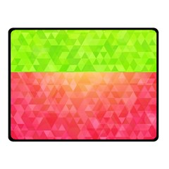 Colorful Abstract Triangles Pattern  Double Sided Fleece Blanket (small)  by TastefulDesigns