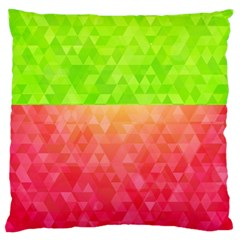 Colorful Abstract Triangles Pattern  Standard Flano Cushion Case (one Side) by TastefulDesigns