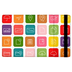 Icons Vector Apple Ipad 2 Flip Case by Simbadda