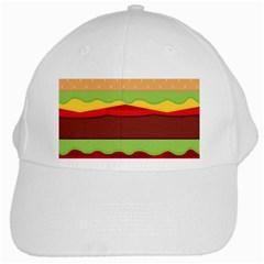 Vector Burger Time Background White Cap by Simbadda
