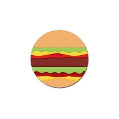 Vector Burger Time Background Golf Ball Marker (4 Pack) by Simbadda