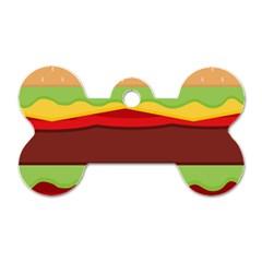 Vector Burger Time Background Dog Tag Bone (two Sides) by Simbadda